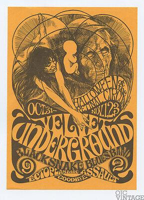 Retinal Circus Postcard 1968 Oct 31 Velvet Underground