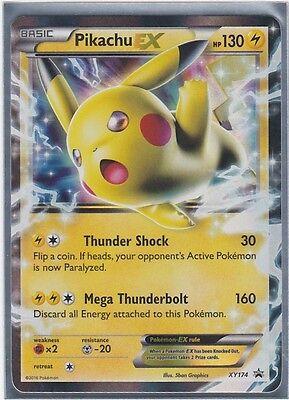 Pokemon TCG Pikachu EX XY174 Black Star Promo Battle Heart Tin Mint