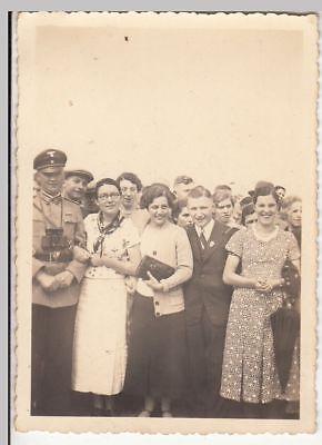 (F21329) Orig. Foto Personen im Freien, Wanderung Ausfahrt 1930er