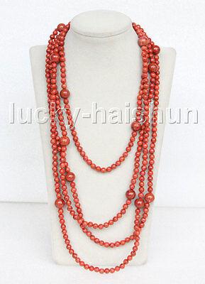Natural Sponge Coral Necklace - long 100