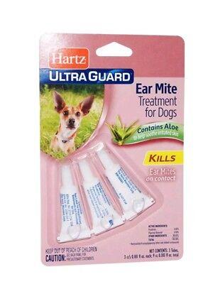 Hartz UltraGuard EAR MITE TREATMENT f/ Dogs • Kils Earmites on Contact WITH ALOE