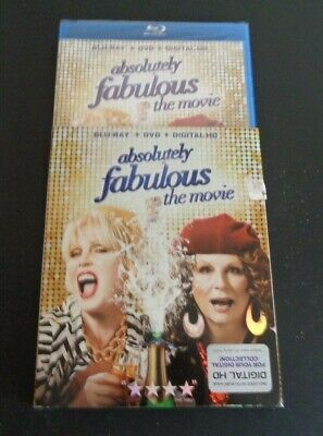 ABSOLUTELY FABULOUS The Movie Blu-Ray + DVD New + Slipcover FREE SHIPPING