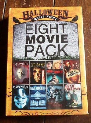 Halloween Movie Night Eight Movie Pack (DVD, 2010) Free Shipping!](Halloween Dvds)