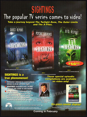 SIGHTINGS__Orig. 1996 Trade AD_TV series video promo__Ghost / UFO Report_Psychic for sale  Shipping to United Kingdom