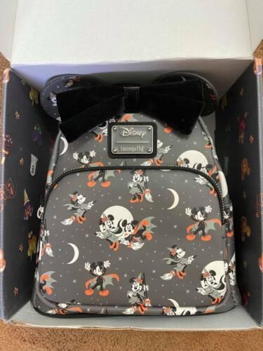✅FREE SHIPPING✅ Loungefly Disney Vampire Mickey Minnie Halloween Mini Backpack