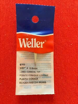 Weller Eto Long Conical Soldering Pencil Tip 132