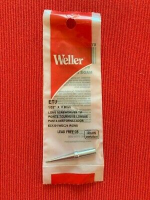 One Genuine Weller Etj Solder Soldering Tip Fits Stations Wes51 Wesd51 Wesd51d