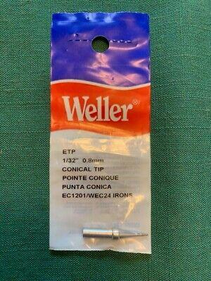One Genuine Nos Weller Etp Conical Soldering Tip 0.8 Mm0.031