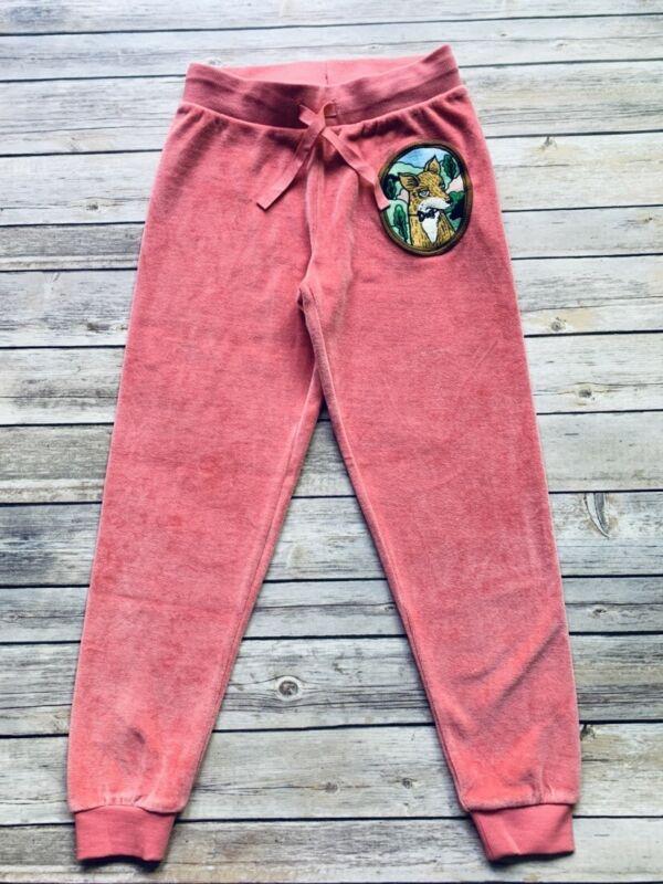 Mini Rodini Fox Velour Sweatpants, 116-122 Cm