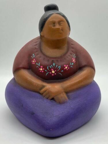 Las Marias Ceramica Tonala Hand Made Mexican Woman Statue