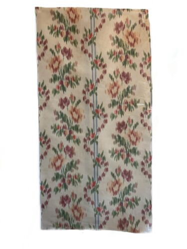 Rare Beautiful 19th Century Silk Ikat Floral Fabric (3097)