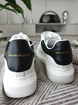 Alexander McQueen Sneakers Size US8.5 EU40 Black/White Leather