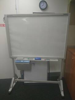 Whiteboard with built-in printer