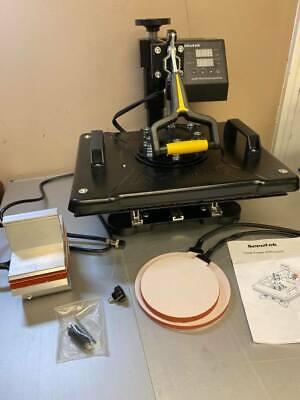 Used Seeutek Heat Press 5 In 1 Heat Press 12x15 Inch Machine 360-degree Swing