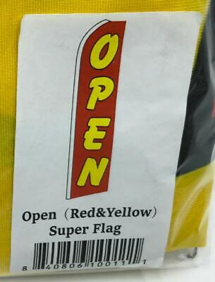 Open Yellow Red Flutter Feather Flag Swooper Advertising Sign Bow Banner