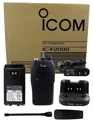 Icom F2000h Rc Uhf 4w 16 Channel 450-520mhz Radio Police Fire Ems Submersible