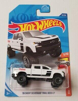 2020 Hot Wheels '19 Chevy Silverado Trail Boss LT * White * J-Case 1:64 Scale
