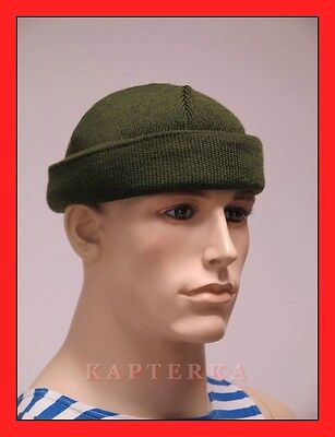 Russische Strickmütze Olivgrün Militaria Tarnung Winter-Mütze