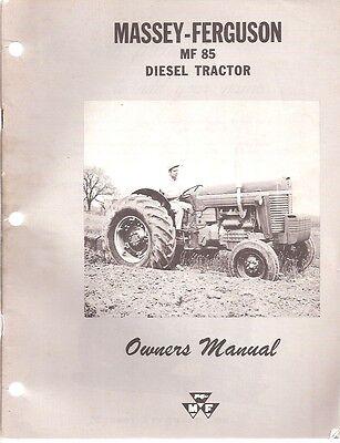 Massey Ferguson MF 85 Diesel Tractor Owner's Manual