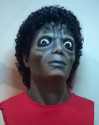 Michael Jackson Lifesize 1:1 Bust Zombie Thriller Statue Prop mask NOT Hot Toys  - Michael Jackson Thriller Mask