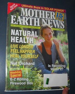 Mother Earth News Magazine Jan 2001 Natural Health Nut Orchard E Z Firewood Box