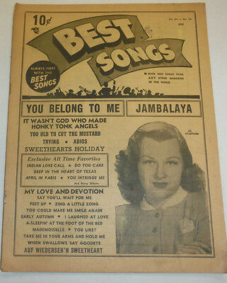 Best Songs Magazine Jo Stafford & Jambalaya Vol.XII No.10 120614R Jambalaya Music Book