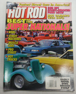 Hot Rod Magazine Best Of The Super Nationals September 1992 NO ML