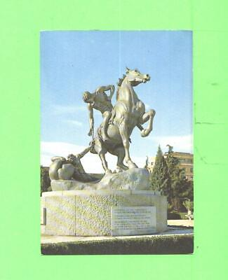 VO POSTCARD MADRID UNIVERSITY TOWN THE TORCH HORSE AND NUDE MEN STATUE