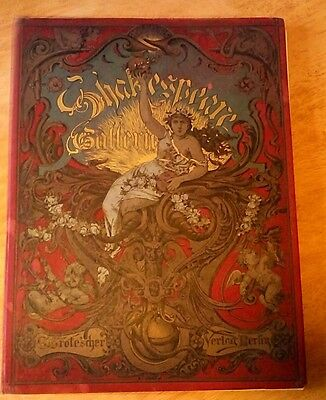 HARDBACK COPY OF 'SHAKESPEARE GALLERIE' DATED 1886