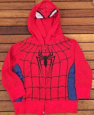 Marvel Comics Boys Avengers SPIDERMAN Costume Hoodie Jacket Sweatshirt 2T-5T (Toddlers Spiderman Costume)