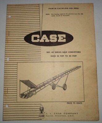 Case 45 Series Portable Bale Conveyor Elevator Parts Catalog Original 18 To 42