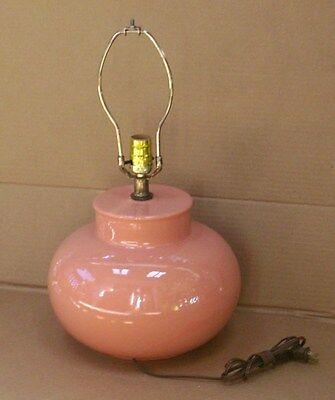 Used, VTG MID CENTURY MCM 60'S-70'S SALMON HAEGER CERAMIC GLOBE BALL TABLE LAMP  for sale  Lake Hopatcong