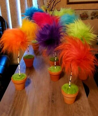 1 Dr Suess Lorax Truffula Trees Party Birthday decor prop Office whos House Gift](Dr Suess Birthday Party)
