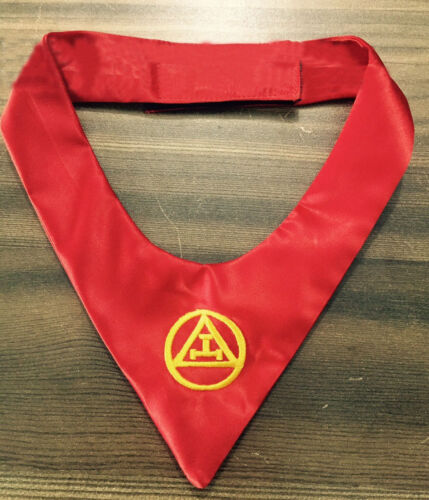 ROYAL ARCH CRAVAT TIE, New Masonic York Rite Triple Tau Cravat Fraternity