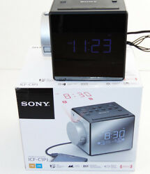 Sony ICFC1PJ Alarm Clock AM/FM Radio Nature Sounds Time Projection