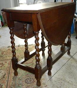 GATELEG Tisch Klapptisch Englisch Eiche um 1900 / 1920 Jugendstil