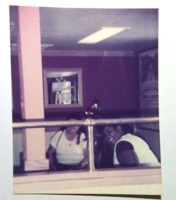 Vintage 70s Found PHOTO Black African Women At A Old McDonalds In Reno (Women In Reno)