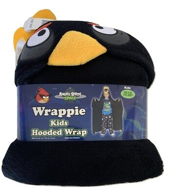 Angry Birds Boys Black Hooded Wrap Poncho Costume One Size Fits - Angry Birds Black Bird Kostüm