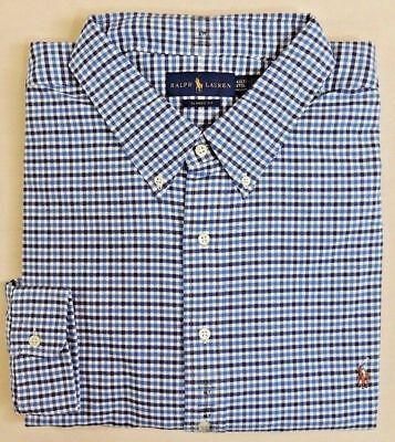 Big Pony Oxford (98 Ralph Lauren Polo Pony Plaid Oxford Long Sleeves Classic Dress Shirt Big Tall)