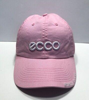 ECCO World Class Cap Hat Pink Adjustable  Adult 100% Cotton Ecco Cap