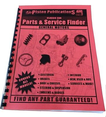 Classic Pontiac Parts & Service Finder / Directory Covers All Models 1930+