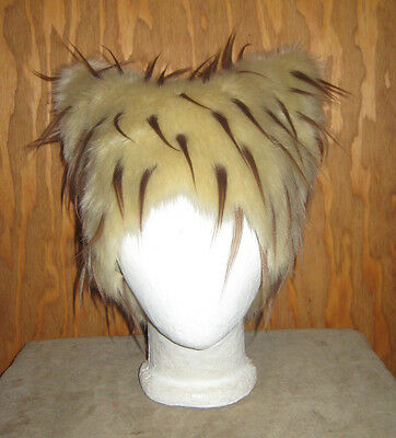 TAN KITTY CAT FUR HAT EDM FESTIVAL ANIME COSPLAY HALLOWEEN FESTIVAL SPIRIT - Spirit Halloween Brown Wig