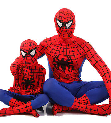 One-piece Spiderman Superhero Costumes Tights for Children Boys or Adult - Mens Superhero Costumes