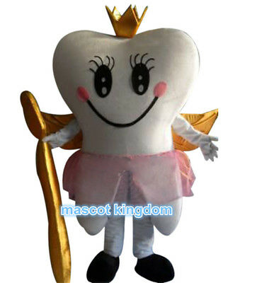 Tooth Costumes (Tooth Fairy Mascot Costume Birthday Cosplay Party Fancy Dress Adult Outfit)
