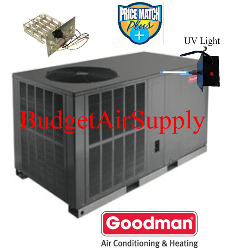 "4 Ton 16 seer Goodman HEAT PUMP""All in One""Package Unit GPH1648H41+Heat+UV"