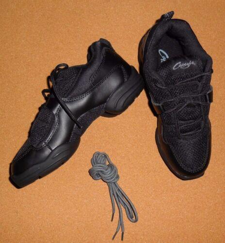 NEW CAPEZIO DS11 Fierce Split Sole BLACK Hip Hop Danceneakers Ladies Dance