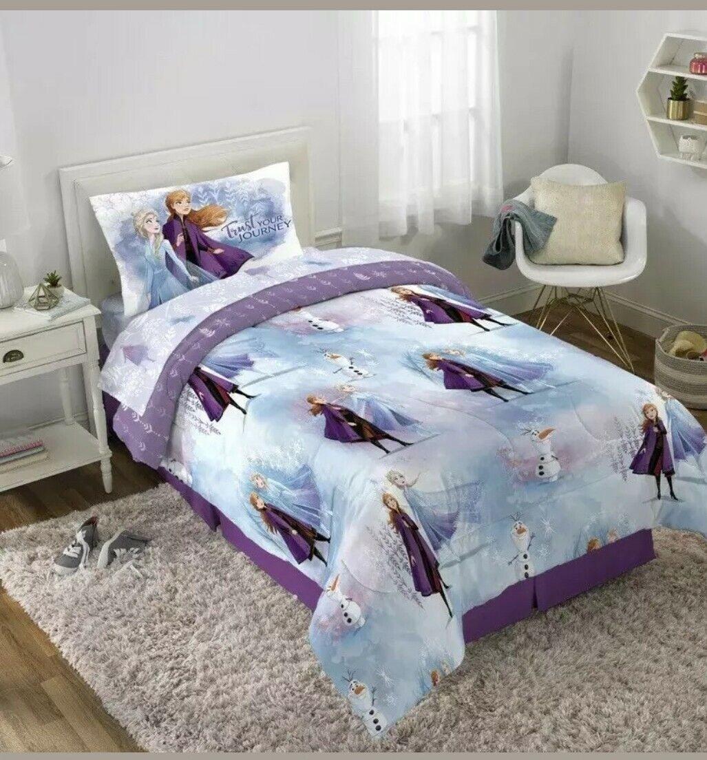 Disney Frozen II 2 Twin 4pc. Bedding Set Snow Wheat Theme +
