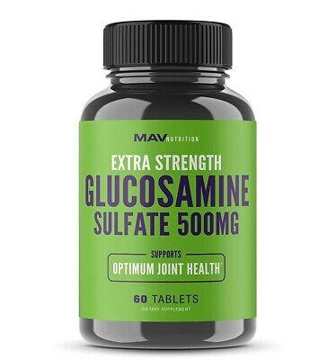 Extra Strength Glucosamine Sulfate 500mg 60 Tab Joint Health MAV Nutrition NEW