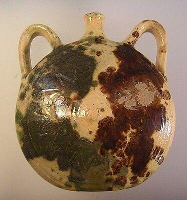 Antique Redware Yelloware Pottery Pennsylvania Shenandoah Valley Brown Green