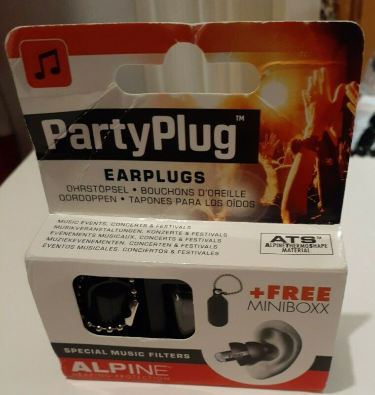 Alpine Party Plug Ear plugs hearing protection reusable - special music filters